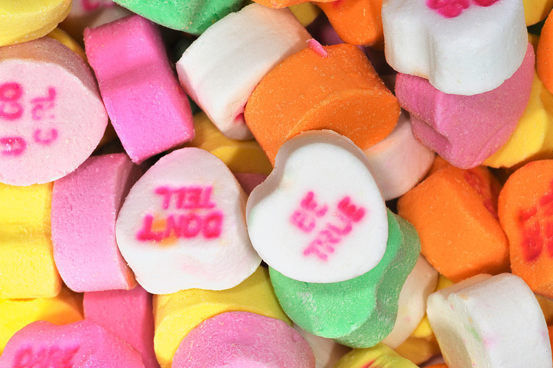 Candy Hearts closeup