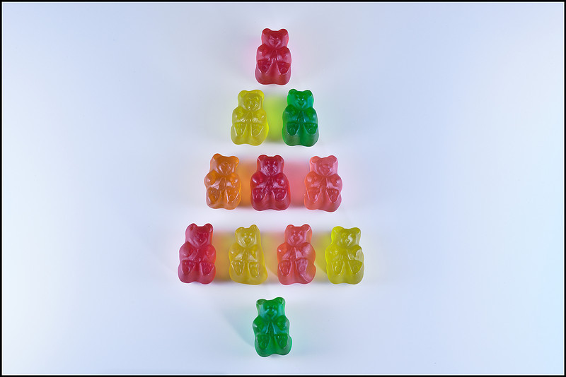 Gummy Bear Christmas Tree Macro