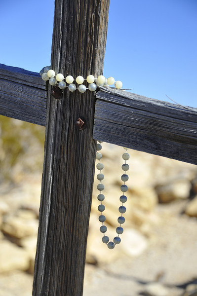 Wooden Cross with Rosary, Terlingua, Texas