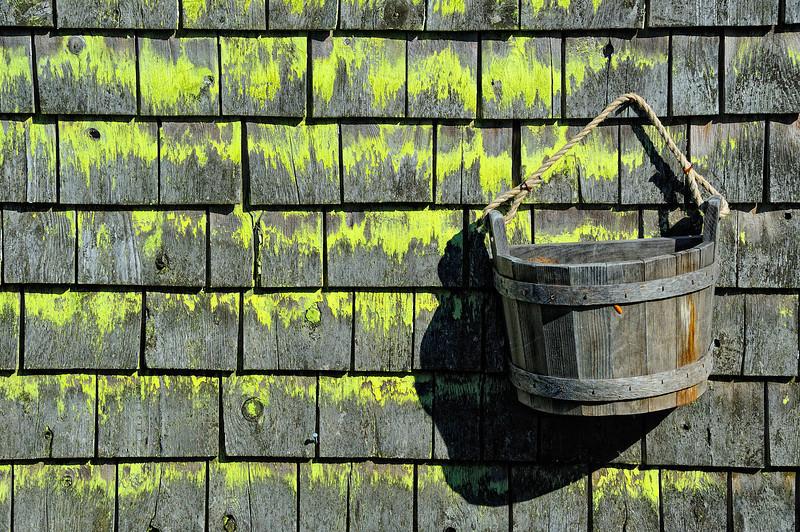 Bucket on Wall, Deer Isle, Maine