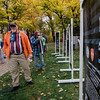 "Spectators walk around Carter Park during the final day of ""The Wall That Heals"" in Leominster on Saturday afternoon. SENTINEL & ENTERPRISE / Ashley Green"