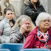 """Members of the audience get emotional during the ceremonies at Carter Park during the final day of """"The Wall That Heals"""" in Leominster on Saturday afternoon. SENTINEL & ENTERPRISE / Ashley Green"""