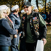 "John Person receives a Leominster Vietnam Veteran Medal at Carter Park during the final day of ""The Wall That Heals"" in Leominster on Saturday afternoon. SENTINEL & ENTERPRISE / Ashley Green"
