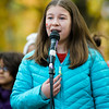 "Marissa Gonzalez, 10,  performs with the Fallbrook Songbirds at Carter Park during the final day of ""The Wall That Heals"" in Leominster on Saturday afternoon. SENTINEL & ENTERPRISE / Ashley Green"