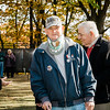 "James Jordan receives a Leominster Vietnam Veteran Medal at Carter Park during the final day of ""The Wall That Heals"" in Leominster on Saturday afternoon. SENTINEL & ENTERPRISE / Ashley Green"