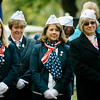 """Daughters of the American Revolution listen in at Carter Park during the final day of """"The Wall That Heals"""" in Leominster on Saturday afternoon. SENTINEL & ENTERPRISE / Ashley Green"""