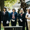 "Gold Star Wives listen in to the ceremonies at Carter Park during the final day of ""The Wall That Heals"" in Leominster on Saturday afternoon. SENTINEL & ENTERPRISE / Ashley Green"
