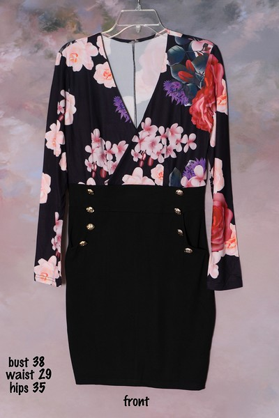 floral and black dress (1)