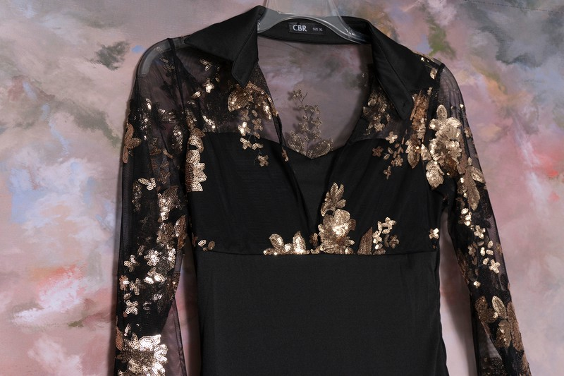 black dress with gold top (2)