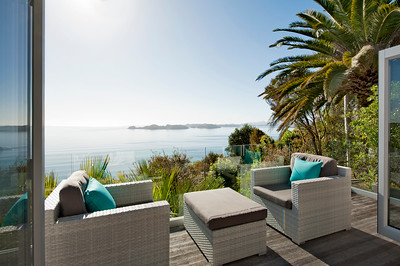 Cloud 9 Luxury Villa Master Bedroom deck and views