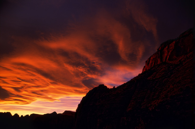 Fire over Zion.