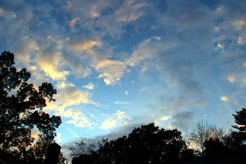 A mix of evening colored clouds!