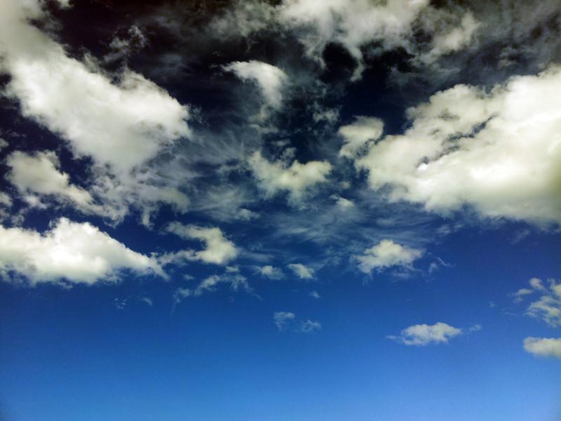 16 August 2012: sky above Gerroa.