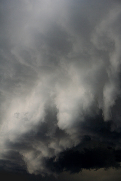 Eye of the storm (1); stormclouds above Potts Point and Sydney CBD, 3pm, Thursday 7 August, 2008.