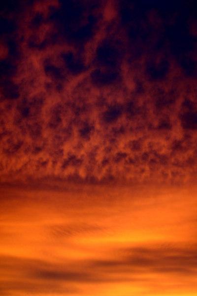 Celestial fire. Sunset, Reids Flat, New South Wales.