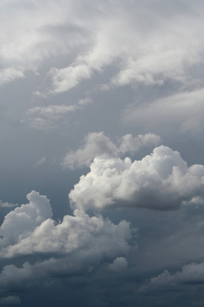 Scudding grey stormclouds (detail), Reids Flat, New South Wales, 11 April 2009.