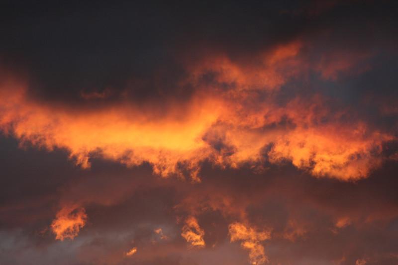 Late Autumn sunset, Reids Flat, New South Wales.