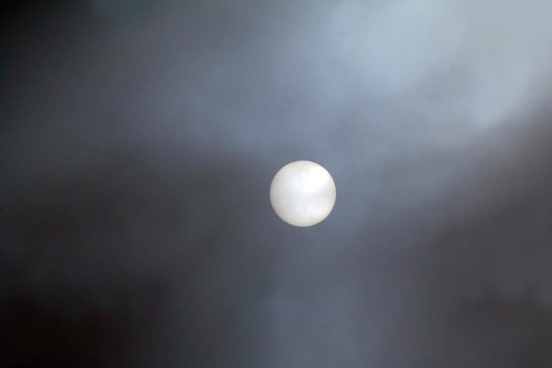 1 July 2013 @ Reids Flat: view of the Sun through a heavy midwinter fog.