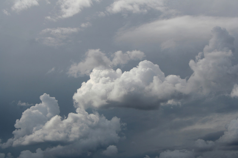 Scudding grey stormclouds, Reids Flat, New South Wales, 11 April 2009.