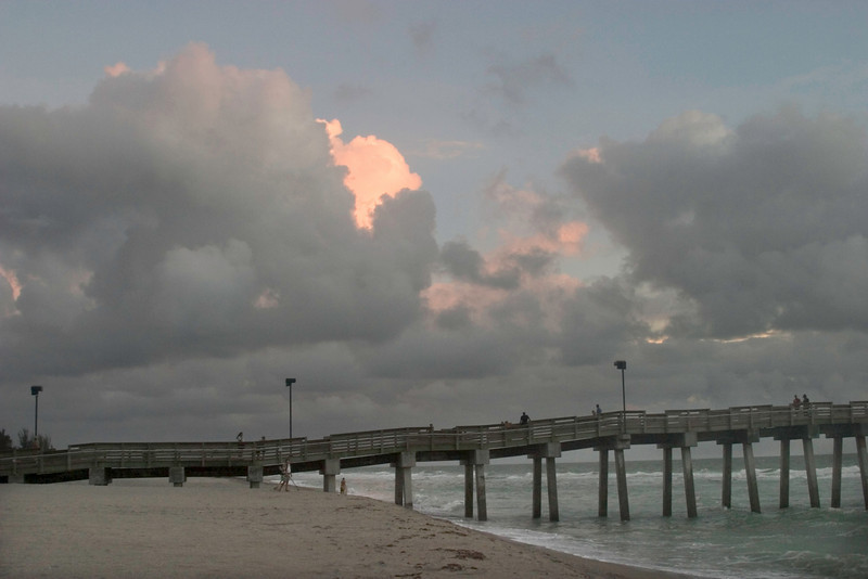 Magical Clouds at Sharkies Pier, Venice, Florida, August, 2008