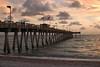 Glowing Sunset At Sharkies Pier, Venice, Florida.<br /> August, 2008