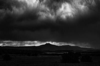 Storm over Cerro Pedernal, Abiquiu, New  Mexico