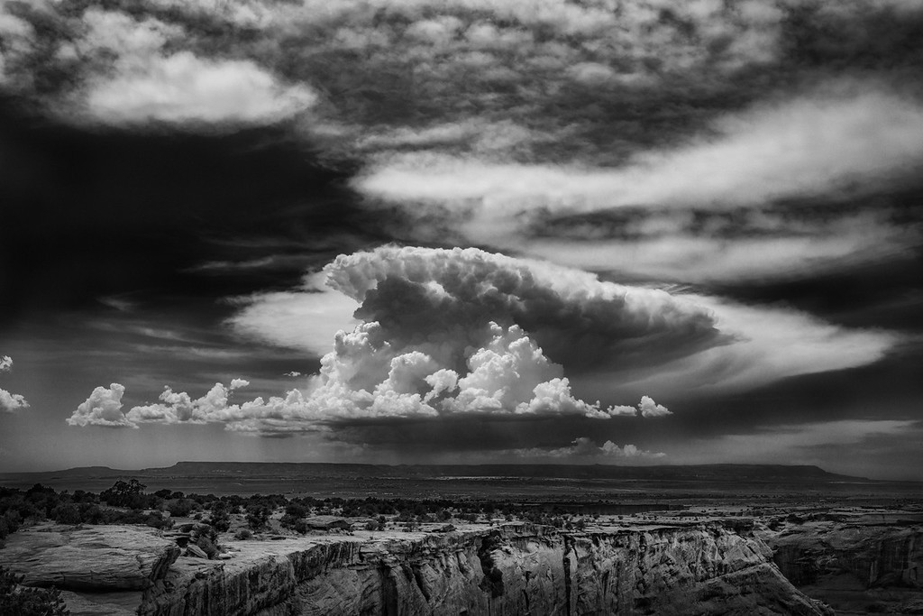 Cumulonimbus Blowing Up Over Black Mesa, Arizona