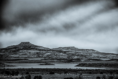 Cerro Pedernal and Lake Abiquiu, New Mexico