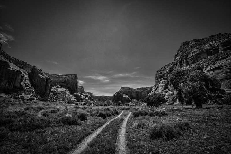 Track to the Old Farm, Twin Trail Canyon, Canyon de Chelly