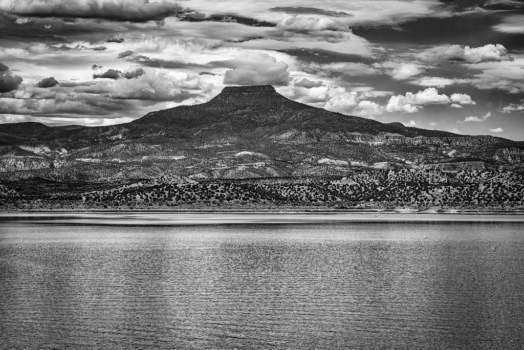 Cerro Pedernal and Lake Abiquiu, New Mexico
