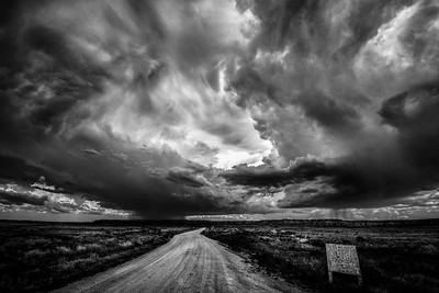Thunderstorm over the Navajo Reservation, Arizona