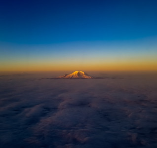 """Mount Rainier Above the Clouds"""