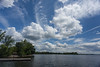 Clouds over the Bay fof Quinte from foot of Herchimer.