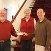 L-R Clark, Joan, and Brad,  donation check to Stifel