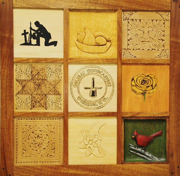 2016 MEMBERS CARVED TILES FOR QUILT PICTURE