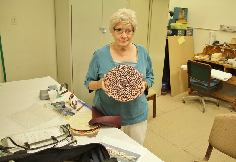JOAN N. VERY PROUD OF HER CHIP CARVED PLATE--GREAT WORK JOAN !!