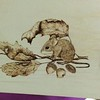 2017 CLUB PROJECT.  MOUSE WOOD BURNING CLASS PROJECT BY DIANA HOLCOMBE..