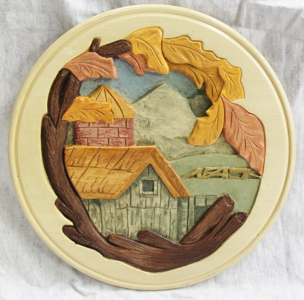 FARM SCENE PLATE BY JOAN N.
