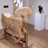 LARGE CARVED CAROUSEL HORSE BY JOE ROMANYAK