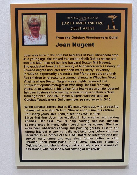 WOODCARVERS GUEST ARTIST-JOAN NUGENT