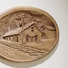 TRAIN STATION RELIEF CARVING BY CLARK ADAM