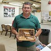 JAY N. WITH HIS DEEP RELIEF CARVING