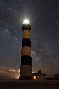 9 Bodie Island Light & Milky Way