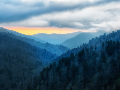 Smokies Sunset by Phyllis Peterson