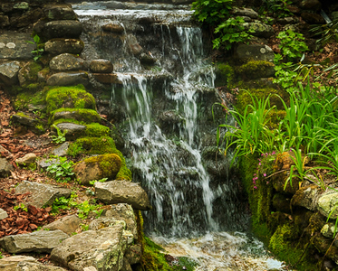 Garden Water Fall by Don Senior