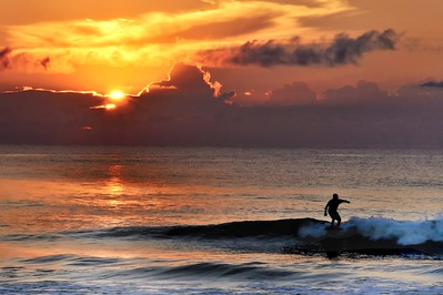 Sunrise Surfer by Gina Cole