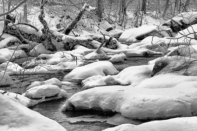 Blanketed Winter Brook by Lane Lewis