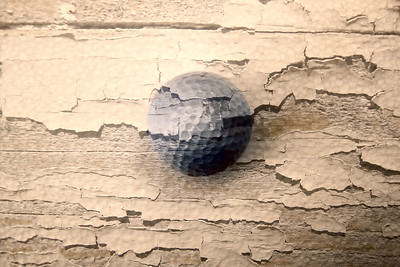 Distressed Golf Ball