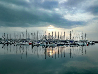 Mobile Shot 2 by Kathy Dranse: Howth Marina
