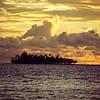 Motu Tapu at sunset